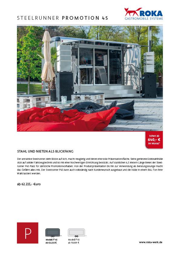 Datenblatt von Promotionanhänger Steelrunner